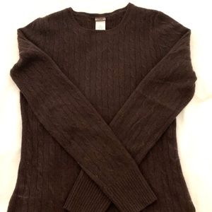 JCrew Chocolate Brown Cable Cashmere